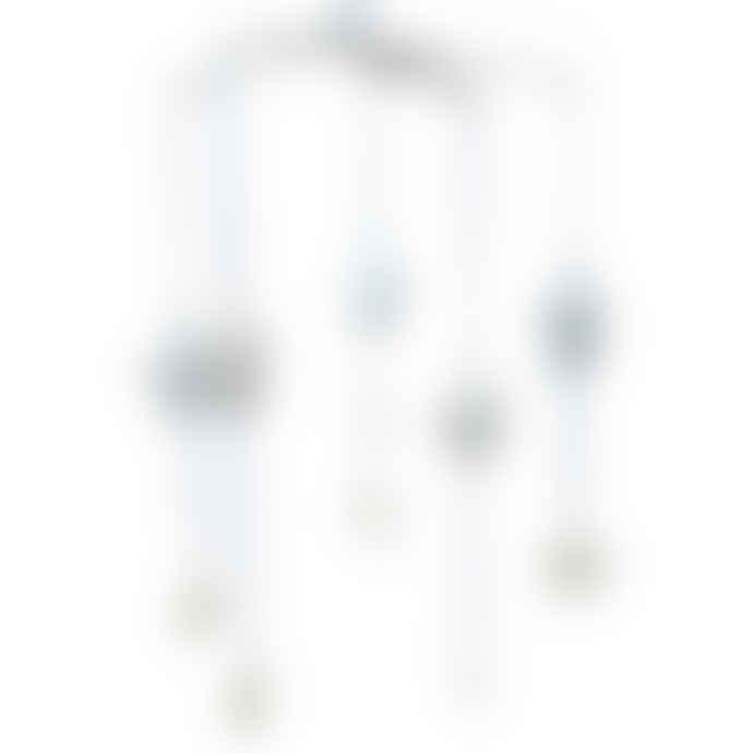 Alimrose Falling Star Mobile - Blue & Ivory
