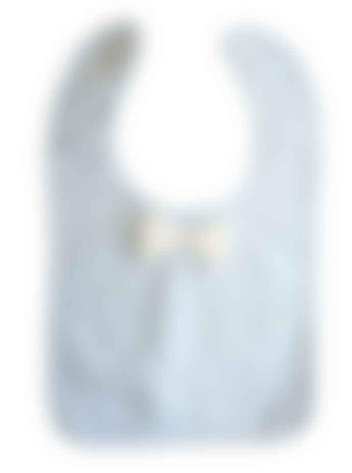 Alimrose Bow Tie Bib - Blue Strip