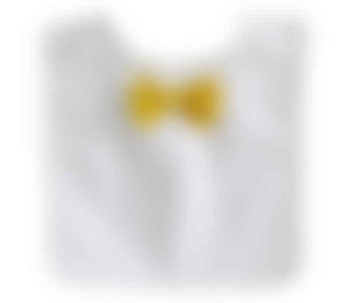 Alimrose Bow Tie Bib Navy Pinspot