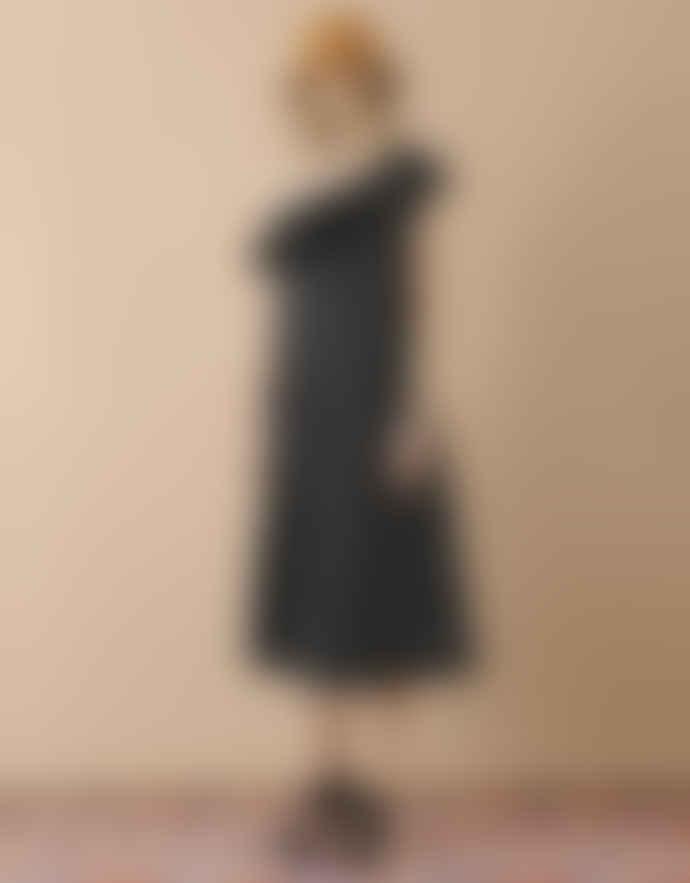 Stine Goya VALENTINA DRESS – DAISY BLACK