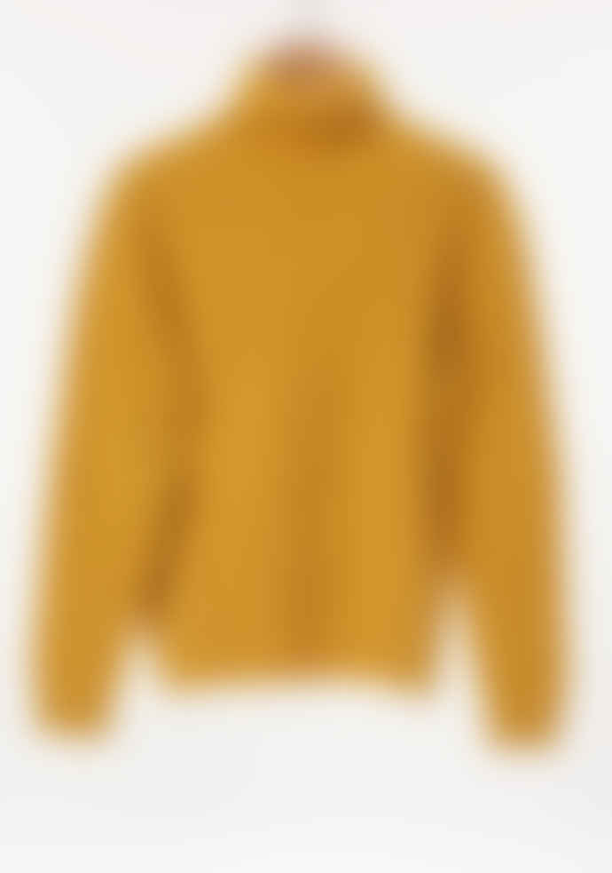 Freight HHG Ochre Mens Lambswool Cable Knit Jumper