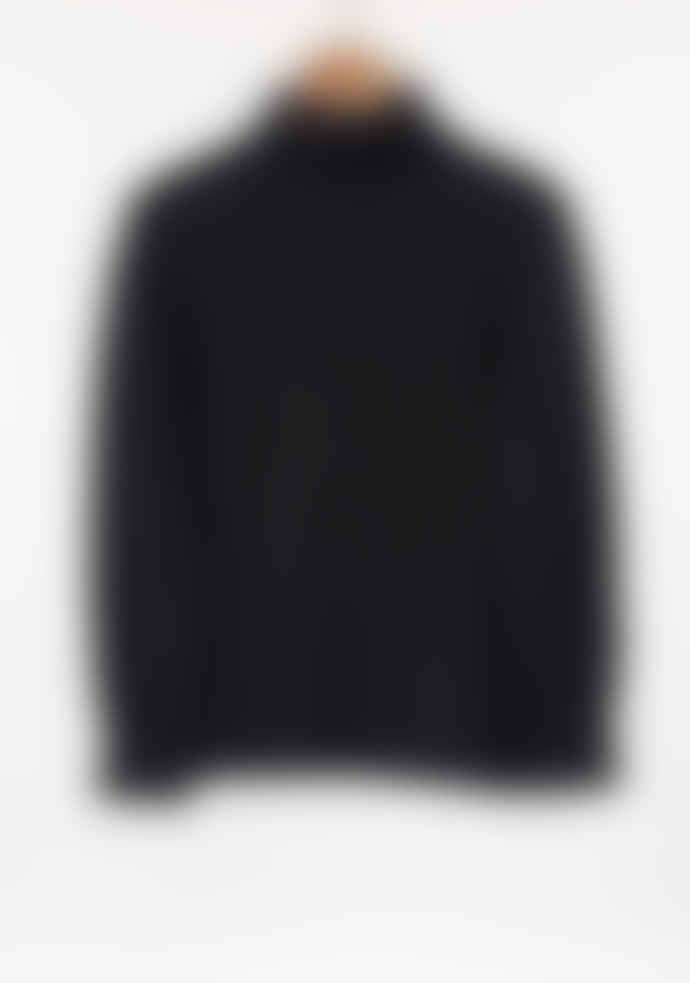 Freight HHG Charcoal Mens Lambswool Cable Knit Jumper