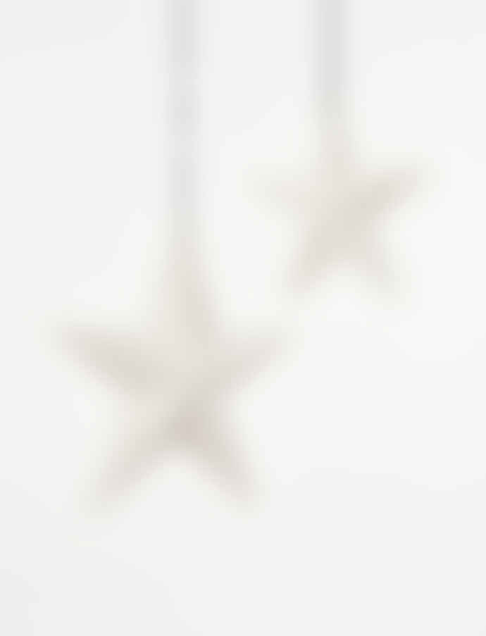 Freight HHG Large White Bone China Star