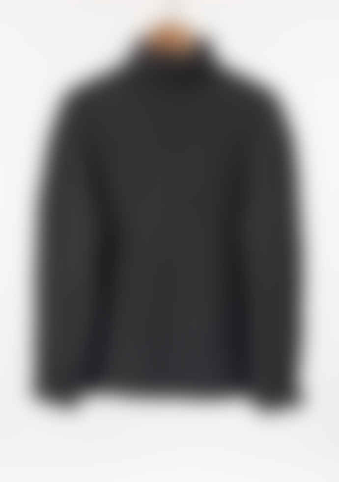 Freight HHG Oxford Grey Mens Lambswool Cable Knit Jumper