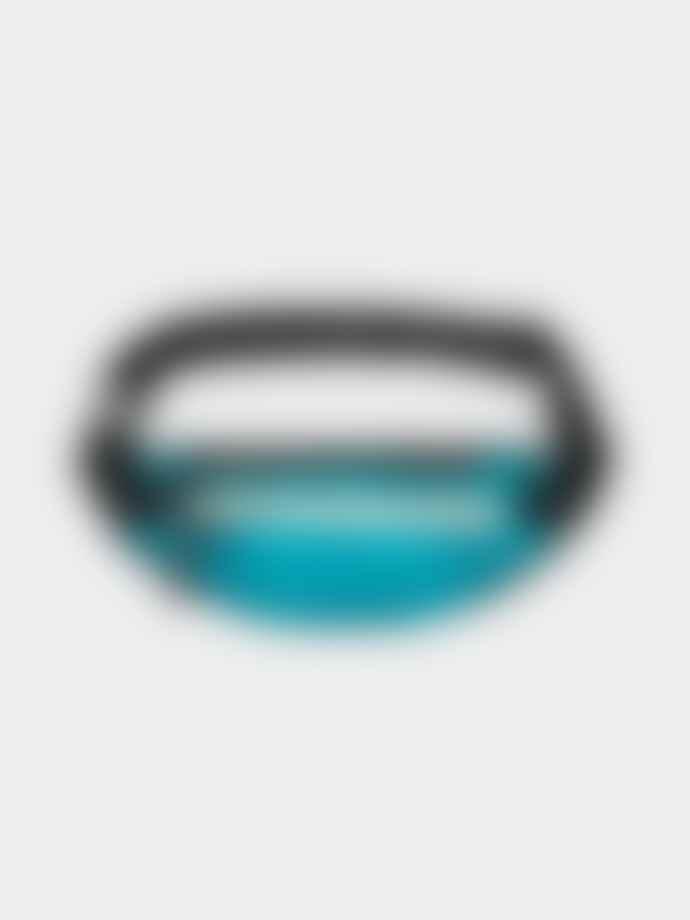 A.P.C. Teal Nylon Repeat Logo Bum Bag
