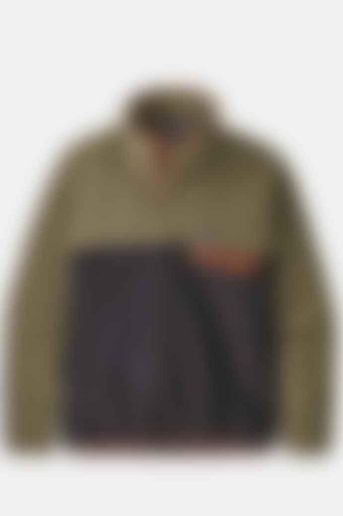 Patagonia Lightweight Synchilla Snap T Fleece Pullover In Sage Khaki