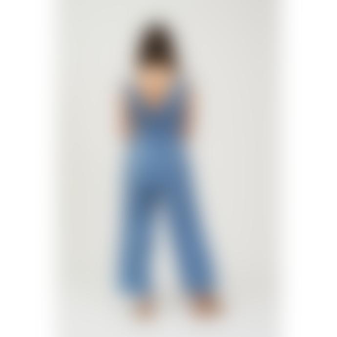 Shio Linen Jumpsuit - Cornflower Blue
