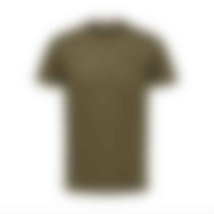 Selected Homme Utility Style Tee Shirt Military Green
