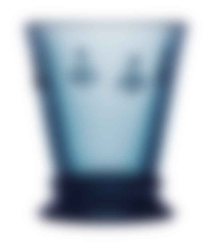 La Rochere Small Bee Blue Glass Tumblers Set Of 6