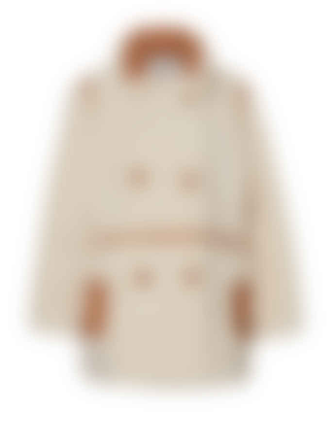 STAND  CHLOE FAUX SHEARLING COAT – OFF WHITE
