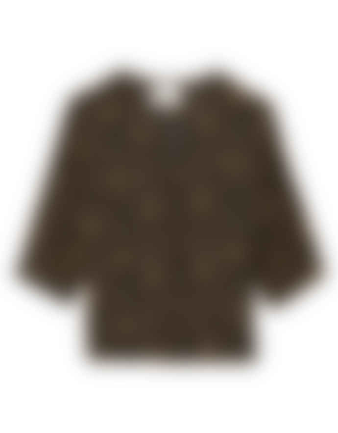 Leon & Harper COREY LEAF SHIRT – BLACK IRIS
