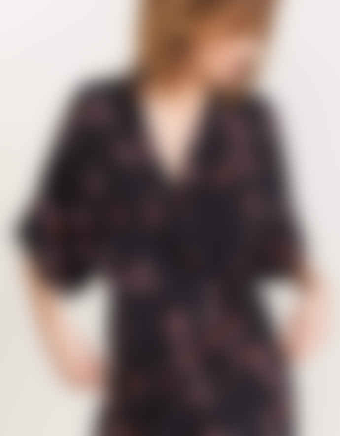 Bellerose ARTY KIMONO DRESS – BLACK