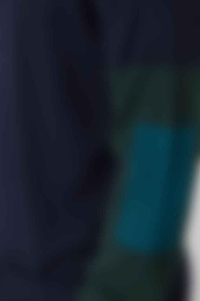 Castart Marine Colour Block Knit Jumper