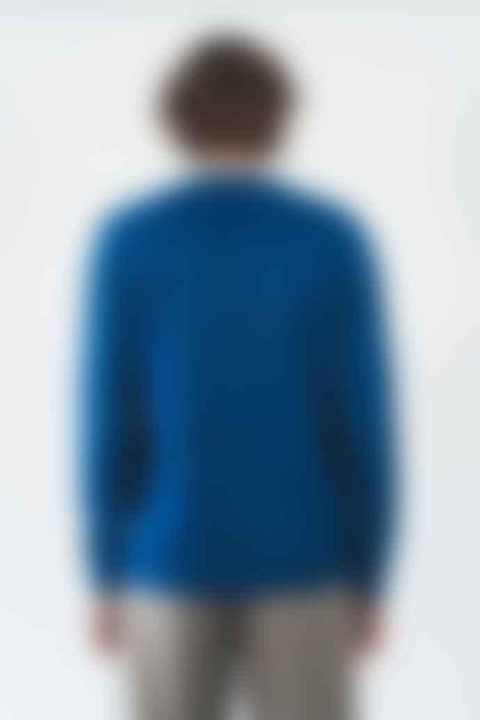 Castart Grosz knitwear French blue hand scrubbed