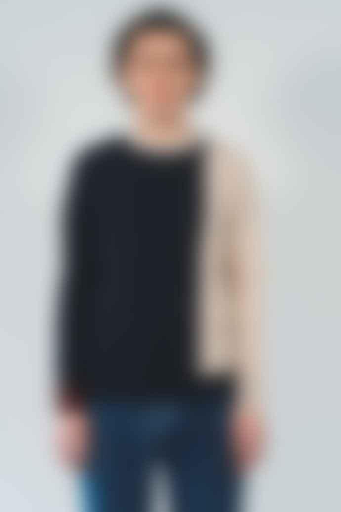 Castart Visser knitwear navy Vertical colour blocked