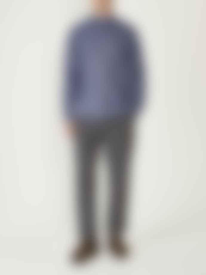 Oliver Spencer Maldeth Blue Clerkenwell Tab Shirt