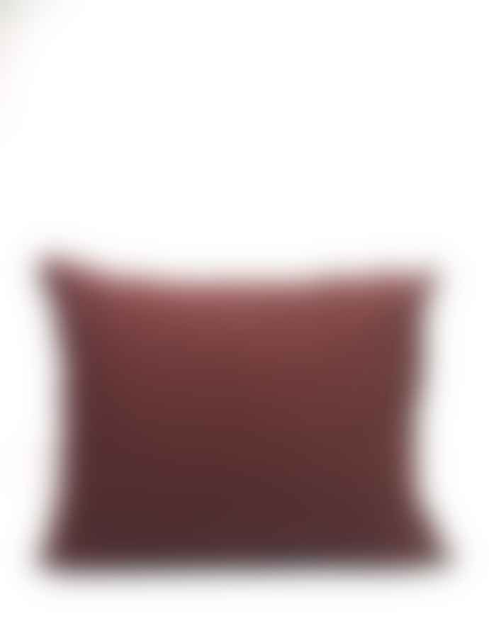 AB Småland Burgundy Organic Combed Cotton Crinkle Pillowcase