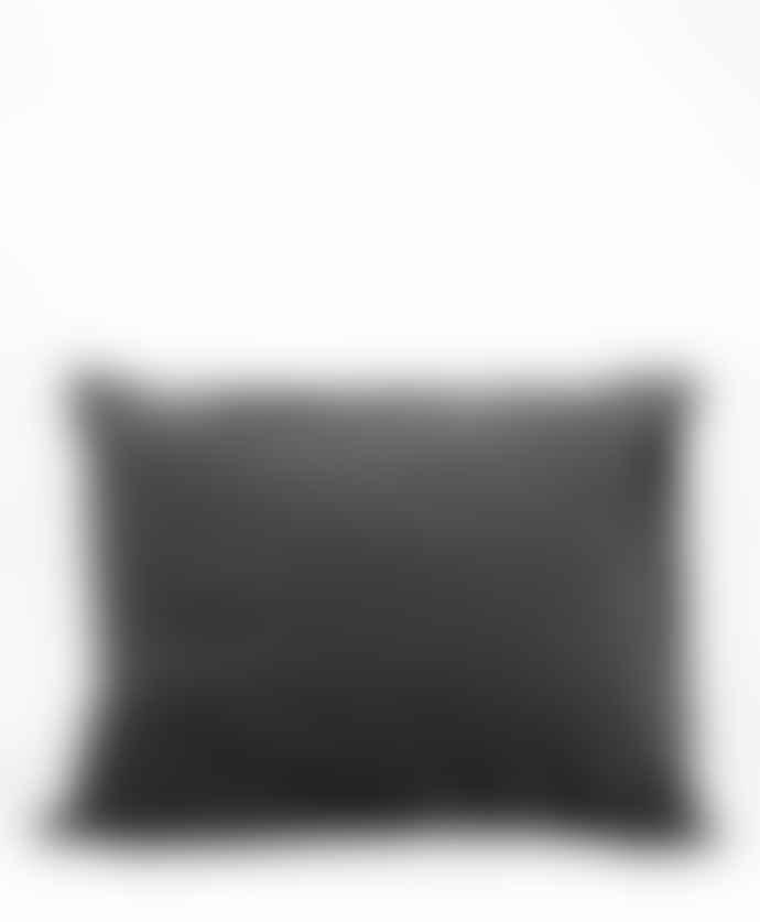 AB Småland Dark Grey Organic Combed Cotton Crinkle Pillowcase
