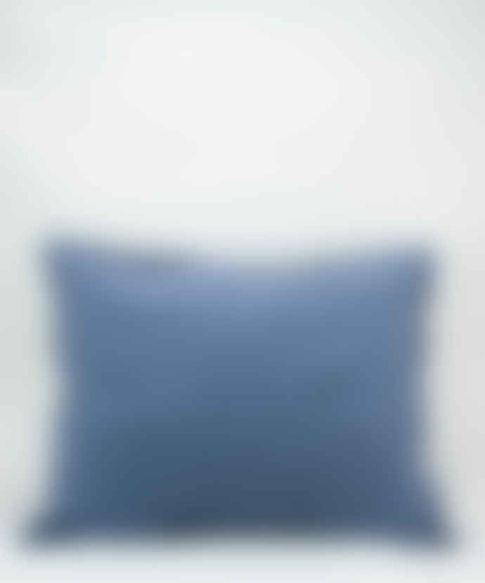 AB Småland Dusty Blue Organic Combed Cotton Crinkle Pillowcase