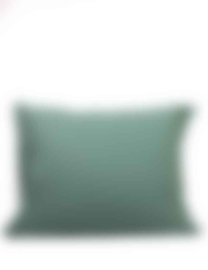 AB Småland Mineral Green Organic Combed Cotton Crinkle Pillowcase