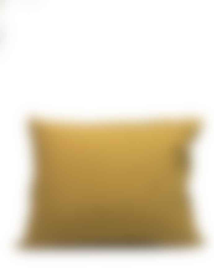 AB Småland Mustard Gold Organic Combed Cotton Crinkle Pillowcase