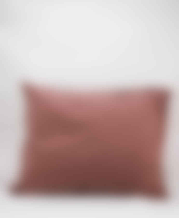 AB Småland Rose Taupe Organic Combed Cotton Crinkle Pillowcase