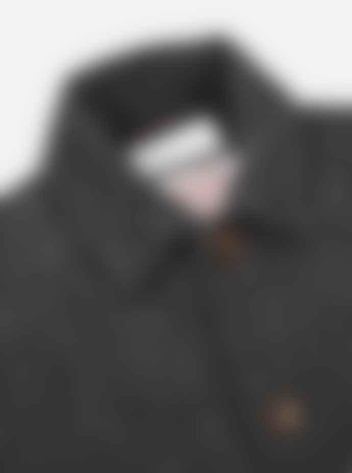 Universal Works Bakers Chore Jacket Charcoal Harris Tweed