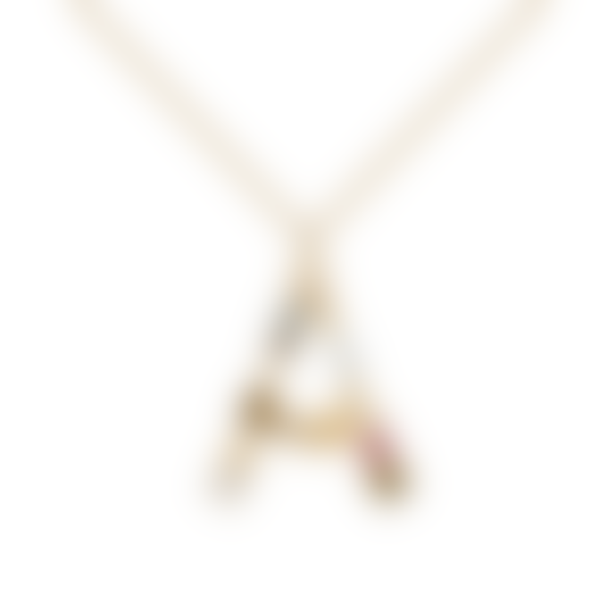 P D PAOLA Sparkling Initial Necklace Gold Letter A