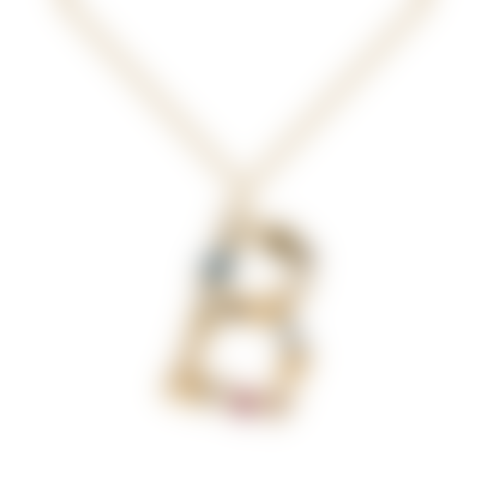 P D PAOLA Sparkling Initial Necklace Gold Letter B