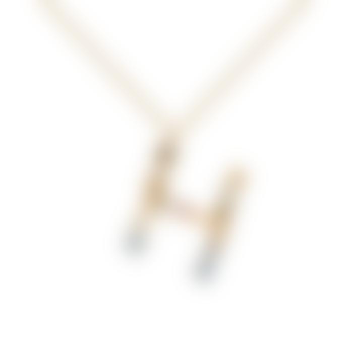 P D PAOLA Sparkling Initial Necklace Gold Letter H