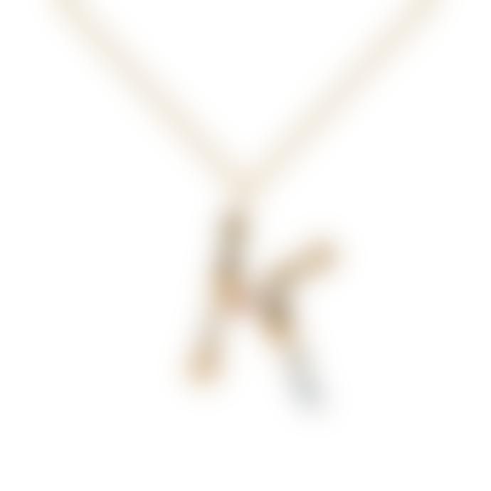P D PAOLA Sparkling Initial Necklace Gold Letter K