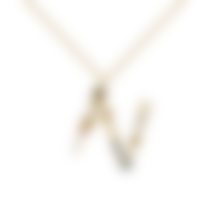 P D PAOLA Sparkling Initial Necklace Gold Letter N