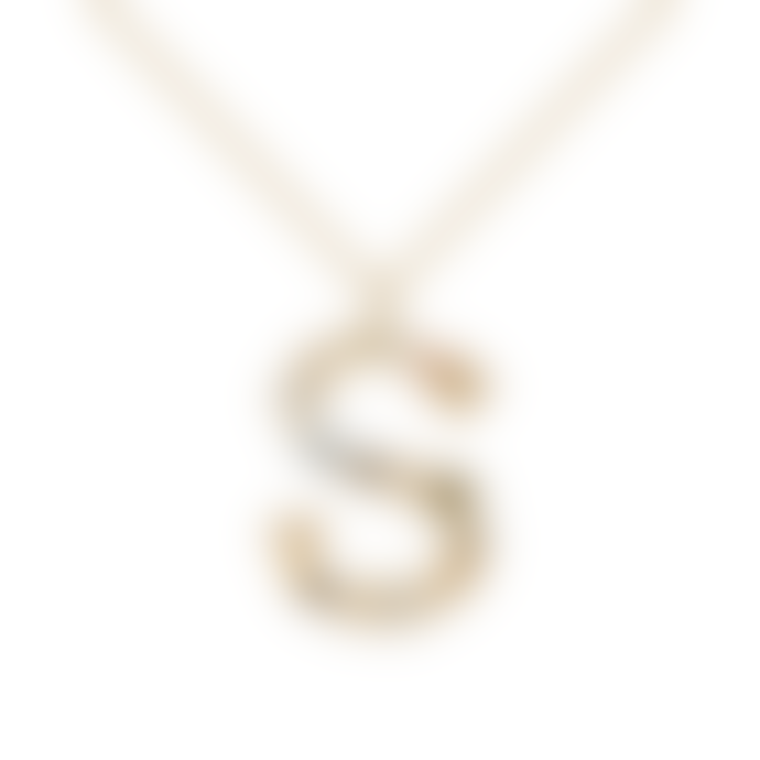 P D PAOLA Sparkling Initial Necklace Gold Letter S