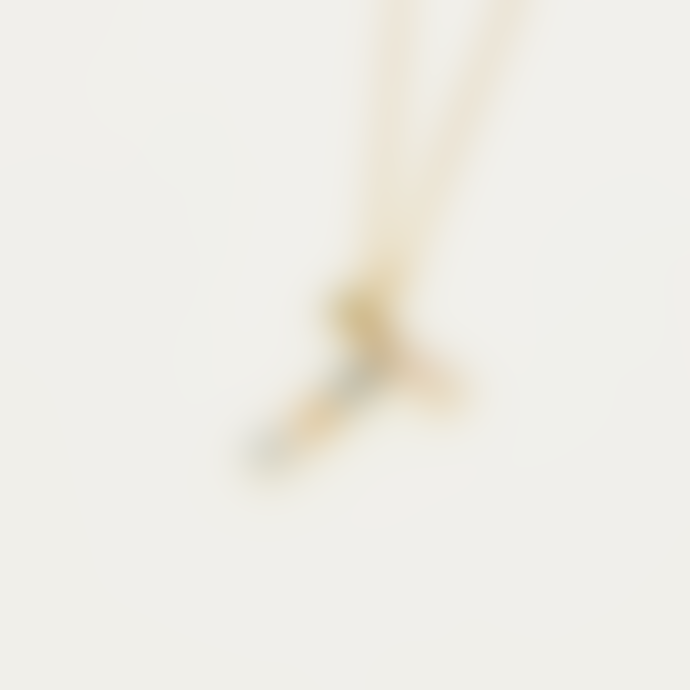 P D PAOLA Sparkling Initial Necklace Gold Letter T