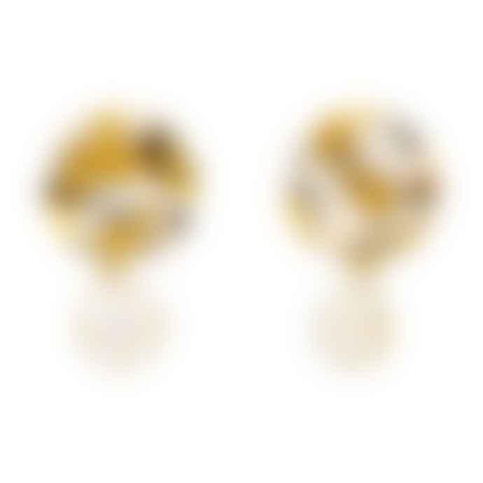 Aym Andreia Pearl Copenhagen Yellow Drop Earrings