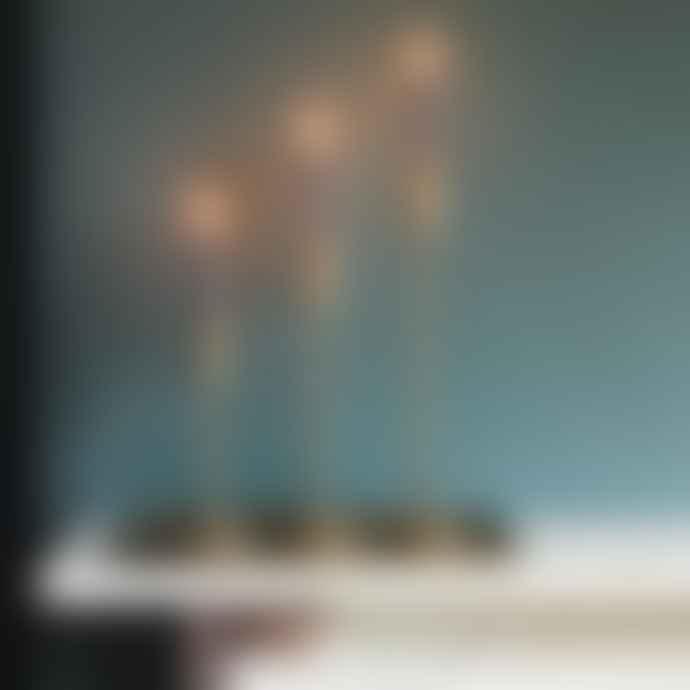 Light & Living Brass Metal Candlestick Small