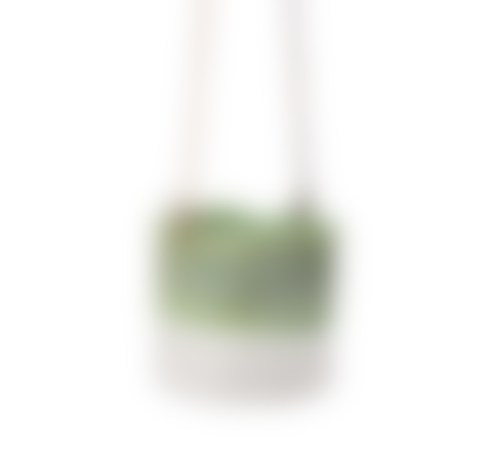 Burgon & Ball Green Dip Stoneware Hanging Pot