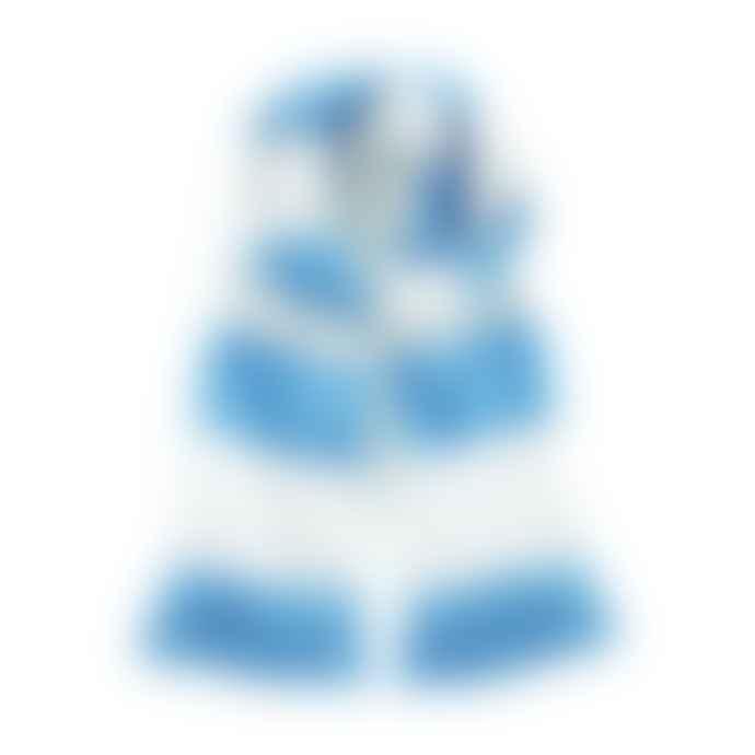 STYLECREEP ACCESSORIES Stylecreep Varsity Stripe Scarf White Sky Blue