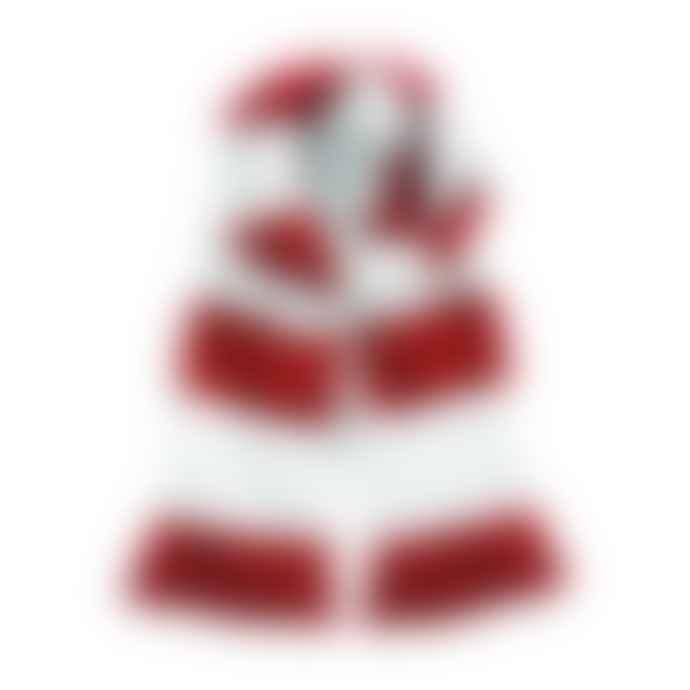 STYLECREEP ACCESSORIES Stylecreep Varsity Stripe Scarf White Red
