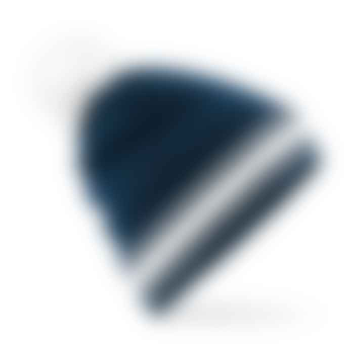 STYLECREEP ACCESSORIES Stylecreep Basics Varsity Pom Beanie Navy White