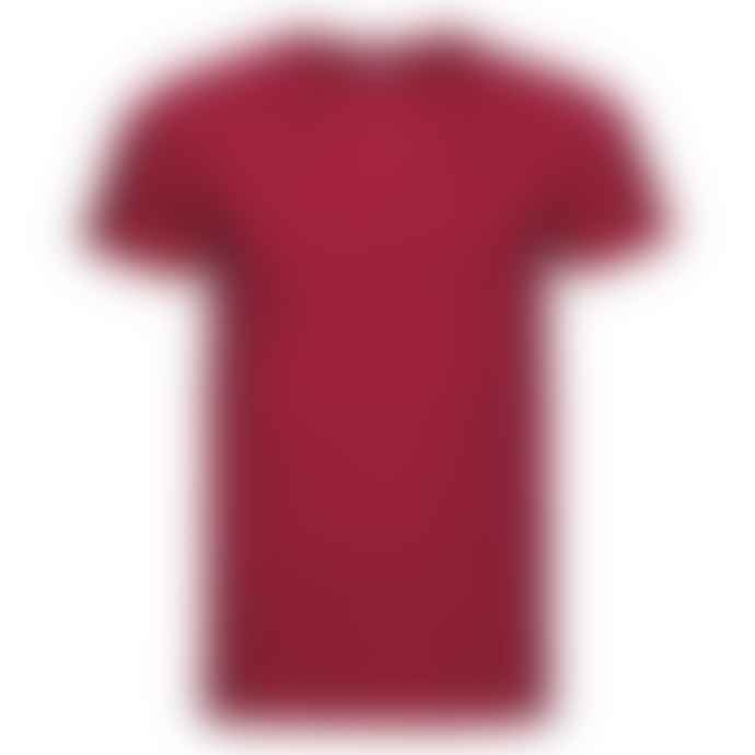 Russell Ringspun Cotton Slim Fit T Shirt Red