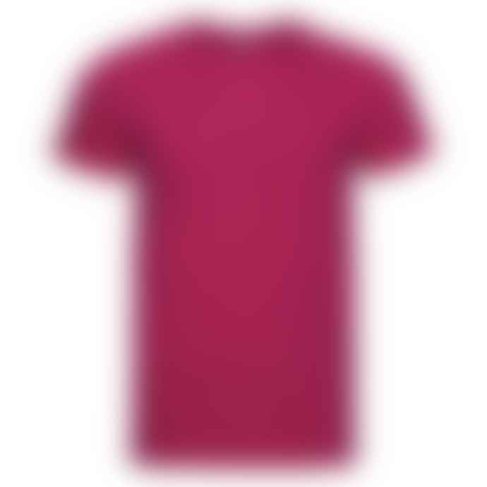 Russell Ringspun Cotton Slim Fit T Shirt Fuchsia