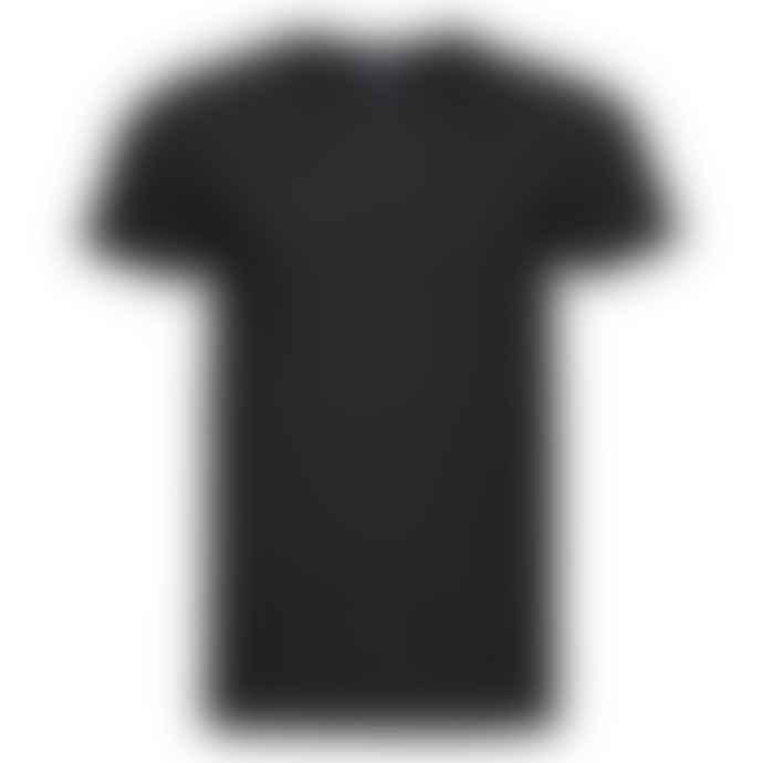 Russell Ringspun Cotton Slim Fit T Shirt Black