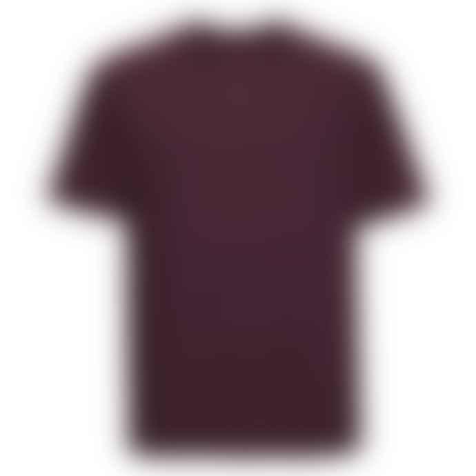 Russell Ringspun Cotton Regular Fit T Shirt Burgundy