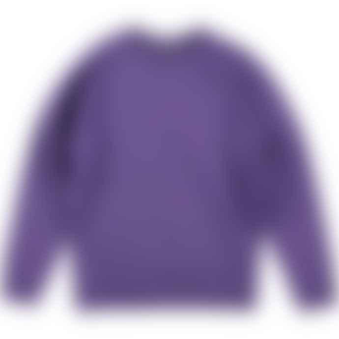 Russell French Terry Raglan Sweatshirt Purple Marl