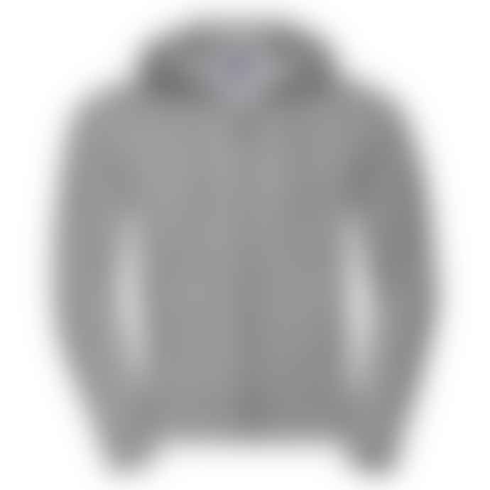 Russell Authentic Zip Up Hooded Sweatshirt Light Oxford Grey