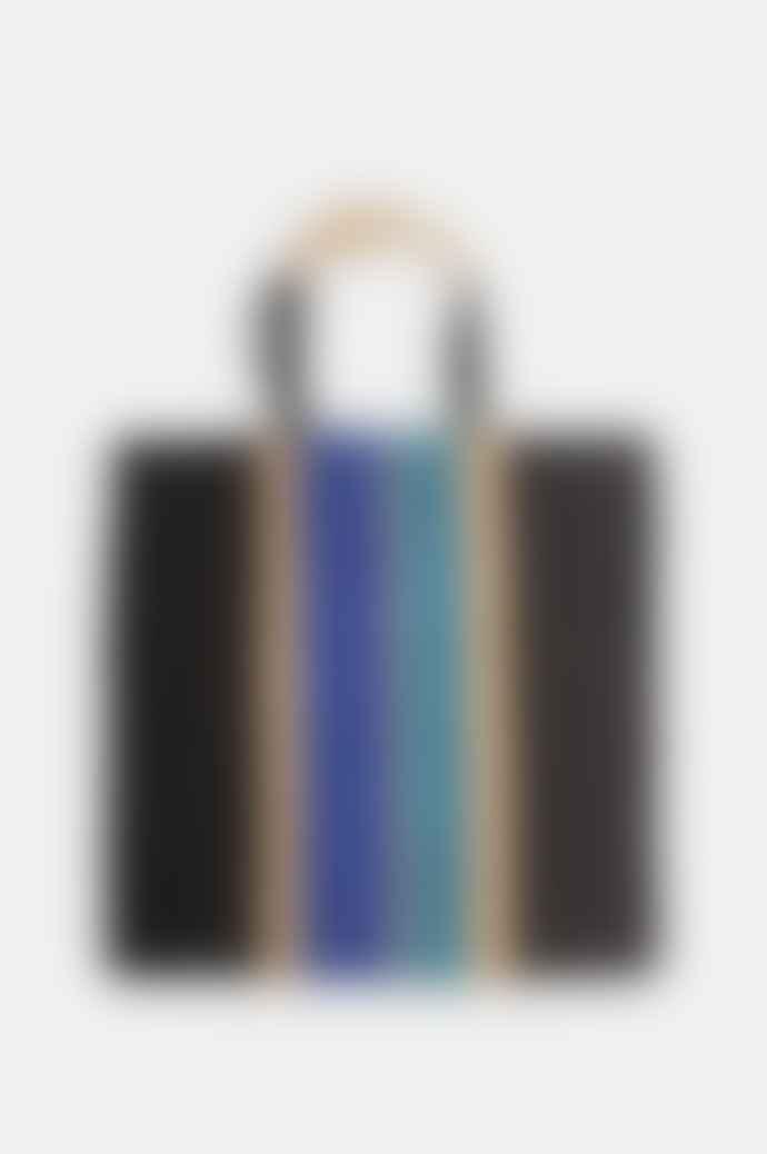Maison Bengal Poresh Bag Blue Stripe Natural Black