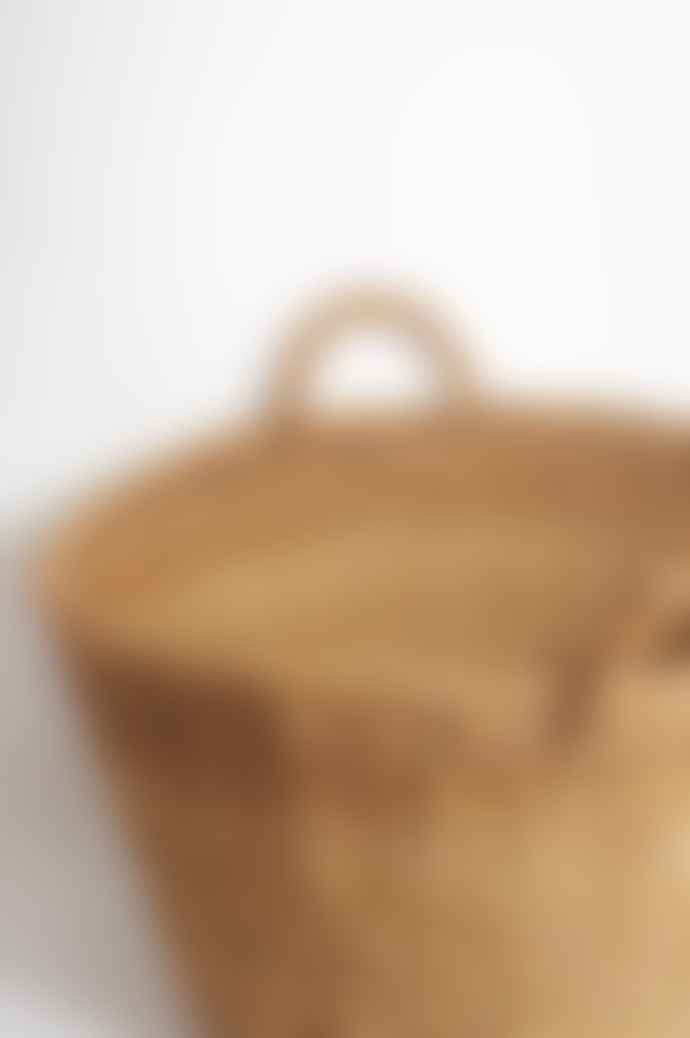 Maison Bengal Large Hogla Round Harvest Basket