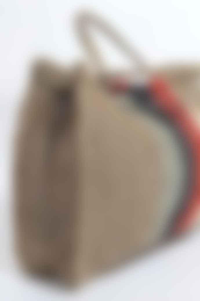 Maison Bengal Jute Macrame Bag Body Grey