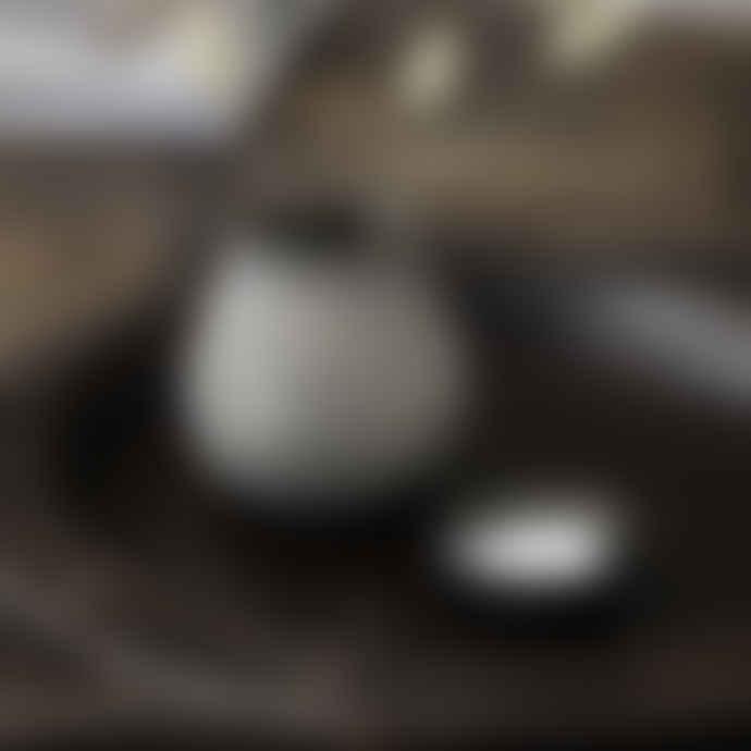 House Doctor Set of 6 Antique Black Egg- shaped Tea Light Holders
